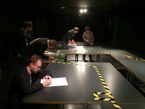 Vorbereitung der Ausstellung